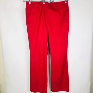 Lands' End Flat FrontCranberry Weekend Chino
